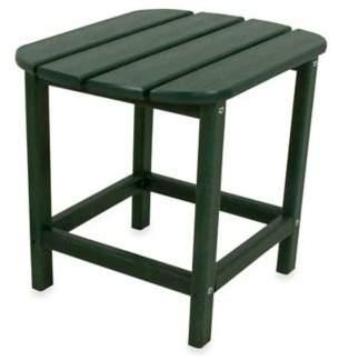 Polywood Folding Adirondack Side Table in Green