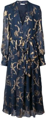 Oscar de la Renta floral-print button-down midi dress