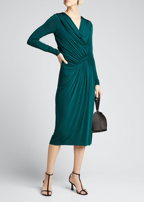 Jason Wu Collection Evening Jersey Long-Sleeve Dress