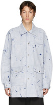 Feng Chen Wang Blue Stripe Resist-Dyed Shirt