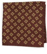 Eton Men's Medallion Silk Pocket Square