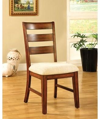 Hokku Designs Pristine Ladder Back Side Chair in Antique Oak