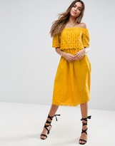 Yellow Off The Shoulder Dresses - ShopStyle