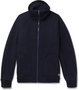Nigel Cabourn - + Peak Performance Mélange Knitted Zip-up Cardigan