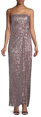 Aidan Mattox Sequin Strapless Column Gown