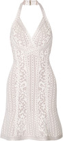 Herve Leger Danae halterneck bandage mini dress