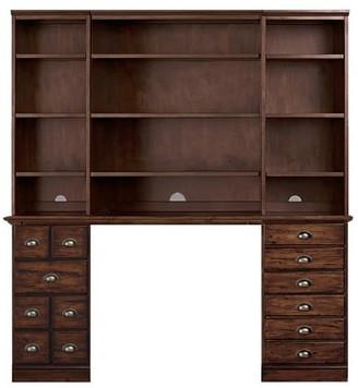 "Pottery Barn Printer's 64"" Desk with Bookcase Suite"