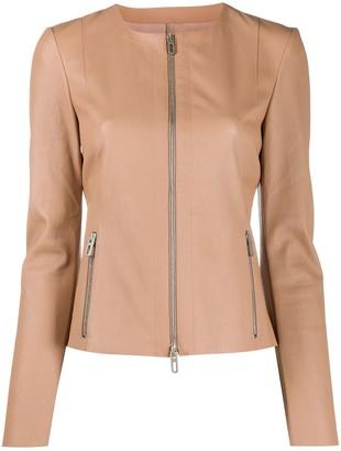 Drome Collarless Slim-Fit Jacket