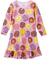 Sara's Prints Sara&s Prints Printed Puffed Sleeve Nightgown (Toddler, Little Girls, & Big Girls)