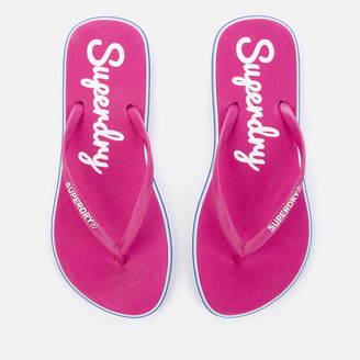 Superdry Women's Neon Rainbow Sleek Flip Flops