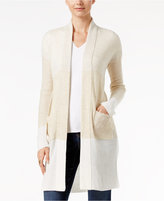 INC International Concepts Open-Front Colorblocked Cardigan, Only at Macy's