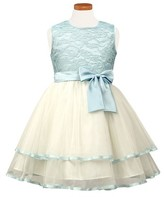 Sorbet Toddler Girl's Tiered Lace & Tulle Dress