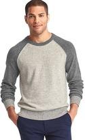Gap Merino wool blend colorblock baseball sweater