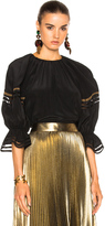 Fendi Blouse with Cut Out Sleeve Detail