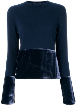 Cashmere In Love Cashmere Jumper With Velvet Panels