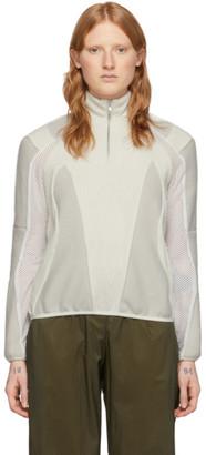 GmbH Off-White Wool Awra Three-Tone Sweater