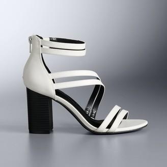 Simply Vera Vera Wang Cotinga Women's Block Heel Sandals