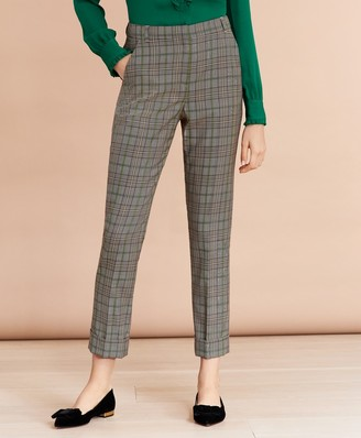 Brooks Brothers Plaid Wool Twill Cuffed Pants