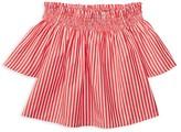 Ralph Lauren Girls' Bengal Stripe Off the Shoulder Top - Little Kid