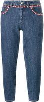 Miu Miu crochet-trimmed jeans - women - Cotton/Polyester - 25