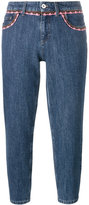 Miu Miu crochet-trimmed jeans