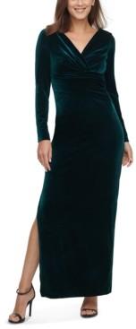 Eliza J Petite Velvet Gown