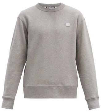 Acne Studios Fairview Face Cotton Sweatshirt - Grey