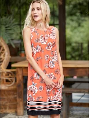 M&Co Petite floral stripe print shift dress