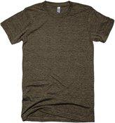 American Apparel Unisex Tri-blend Short Sleeve Track T-Shirt (L) (Tri-Black)