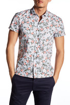 HUGO BOSS Ezippoe Floral Short Sleeve Trim Fit Shirt