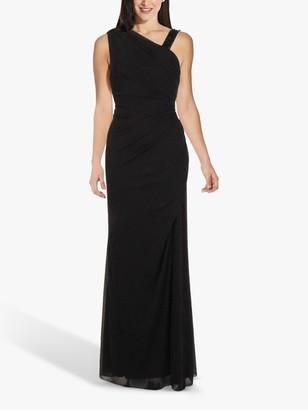 Adrianna Papell Asymmetrical Maxi Gown, Midnight