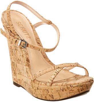 Schutz Auria Cork Wedge Sandal