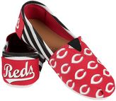 Women's Forever Collectibles Cincinnati Reds Striped Canvas Shoes