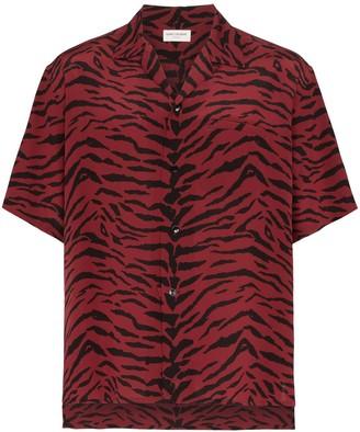 Saint Laurent Animal-Print Short-Sleeved Shirt