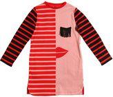 Stella McCartney Face & Stripe Print Organic Cotton Dress