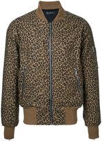 Amiri - leopard print bomber jacket - men - Cotton - M