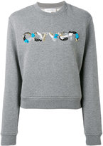 Carven sequin logo sweatshirt - women - Cotton - S