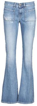 Diesel D-EBBEY-X women's Bootcut Jeans in Blue
