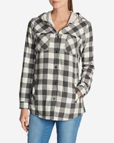 Eddie Bauer Women's Stine's Favorite Flannel Hooded Shirt Jacket