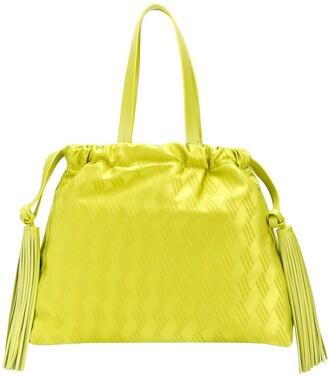 ATTICO Jacquard Logo Tote Bag