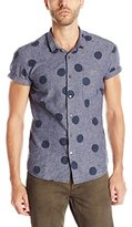 Scotch & Soda Men's Short-Sleeve Printed Button-Down Shirt