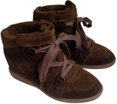 Isabel Marant Brown Suede Trainers Bobby