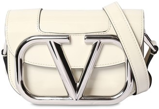Valentino Supervee Sm Patent Leather Shoulder Bag