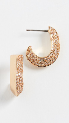 Kate Spade Pave Small Huggie Earrings