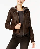 Joujou Jou Jou Juniors' Faux-Shearling Hooded Jacket, Created for Macy's