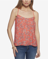 Jessica Simpson Minette Printed Crisscross-Strap Tank Top