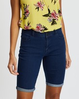 Dorothy Perkins Double Button Knee Shorts