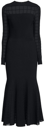 Alexander McQueen Windowpane Knit Midi Dress