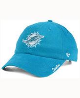 '47 Women's Miami Dolphins Glitter Logo Clean Up Cap
