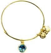 Alex and Ani March Aquamarine Birthstone Bangle